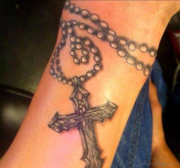 Rosary Tattoo On Wrist