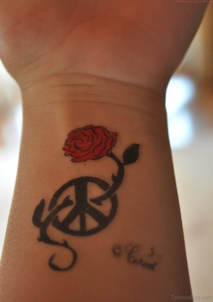73 Excellent Peace Tattoos For Wrist