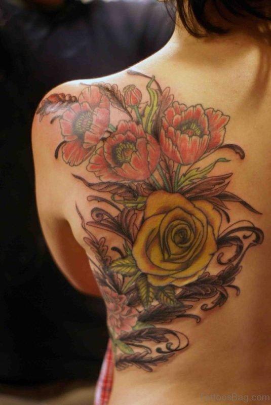 Rose And Poppy Tattoo