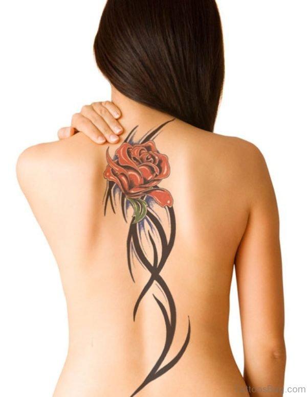 Rose And Tribal Tatoo