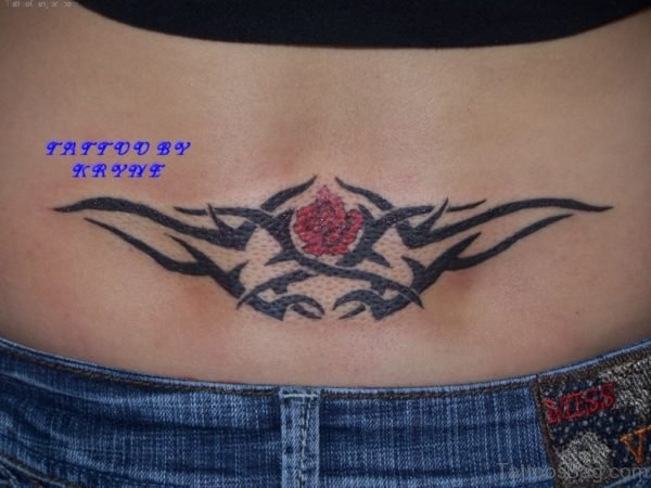 Rose And Tribal Tattoo