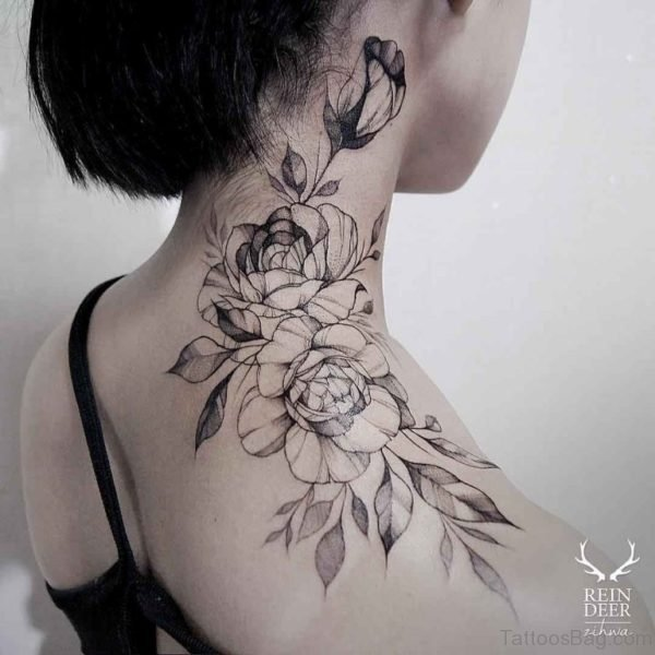 Rose Tattoo Design On Shoulder