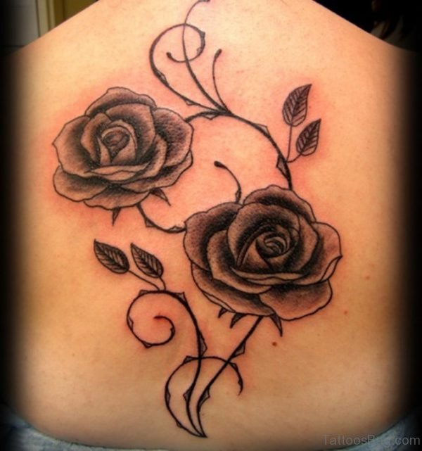 Rose Tattoo On Back