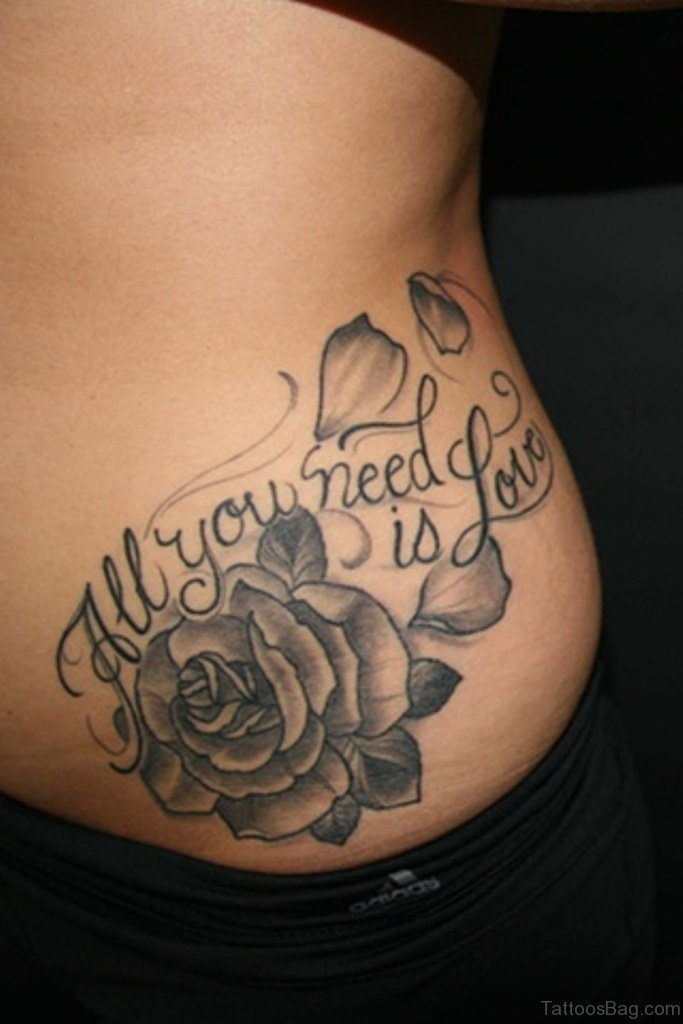 42 nice black and grey tattoos for back for Full lower back tattoos