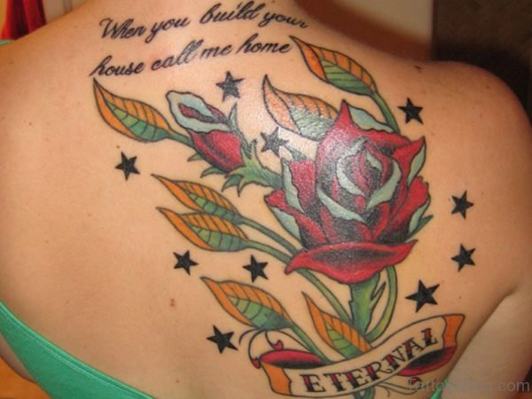 Rose Vintage Shoulder Tattoo