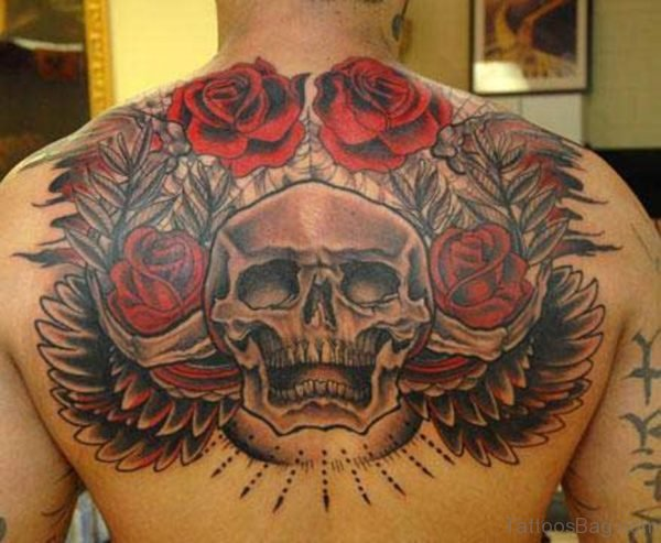 Roses And Skull Tattoo