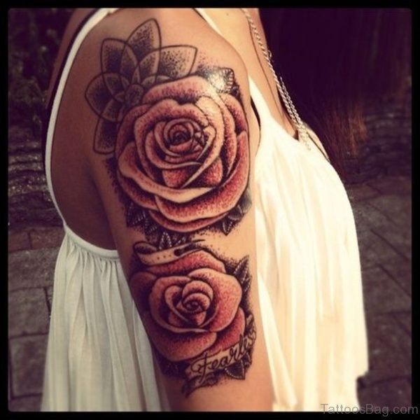Roses Flower Shoulder Tattoo