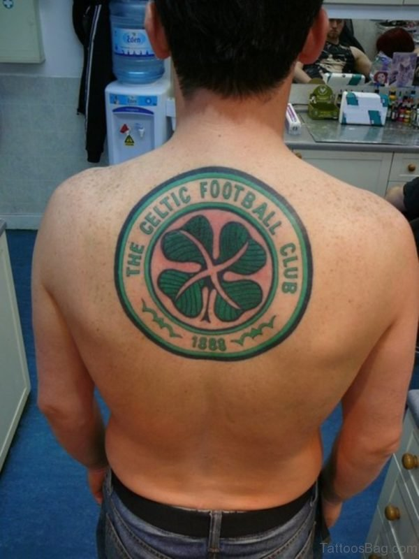 Round Clover Tattoo On Back