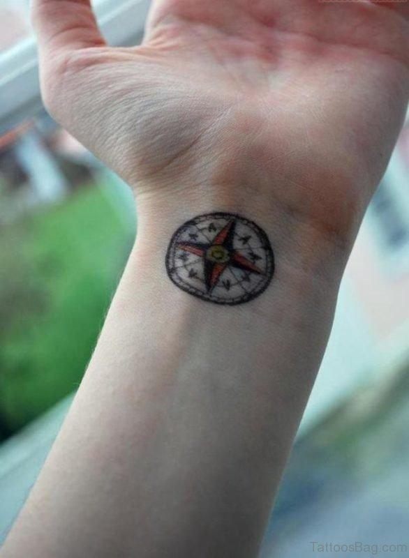 Round Compass Tattoo