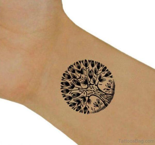 Round Tree Tattoo