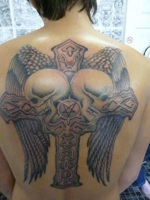Skulls And Cross Tattoo