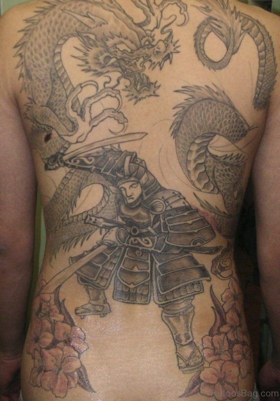 Samurai And  Dragon Tattoo
