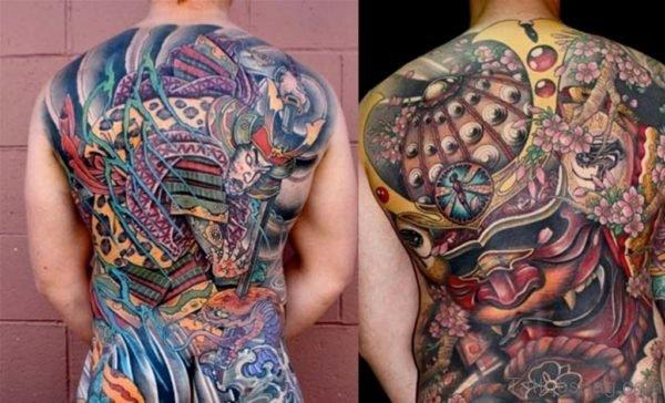 Samurai Mask Tattoo Design