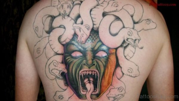 Scary Angry Medusa Tattoo