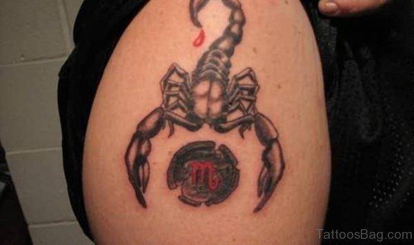 Scorpio Shoulder Zodiac Tattoo