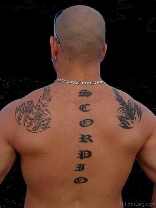 Scorpio Tattoo Lettering Tattoo