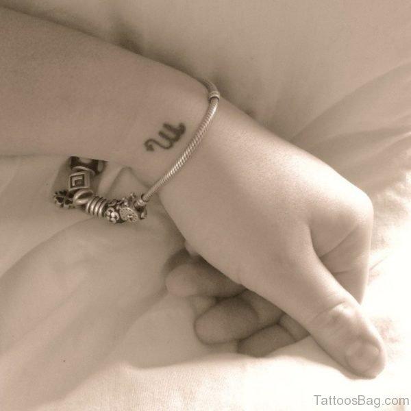 Scorpio Tattoo On Wrist