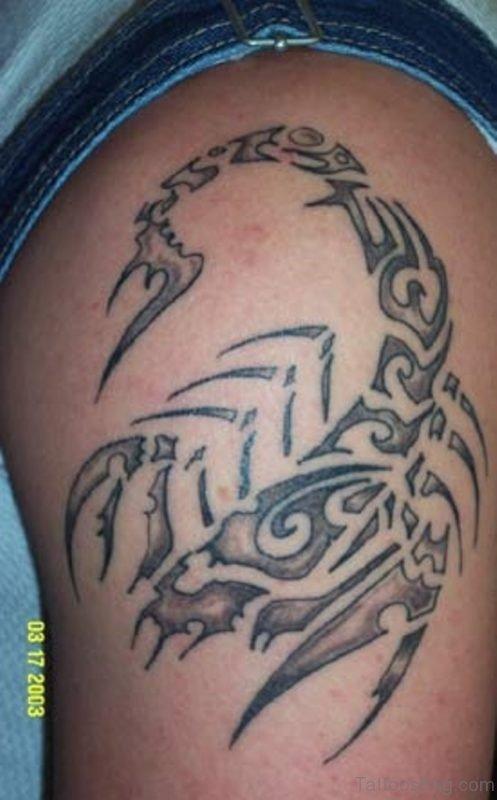 Scorpion Shoulder Tattoo