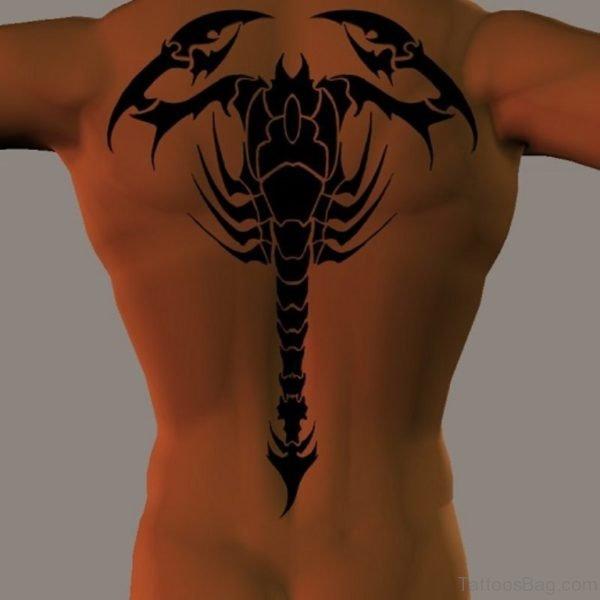 Scorpion Tattoo On Back