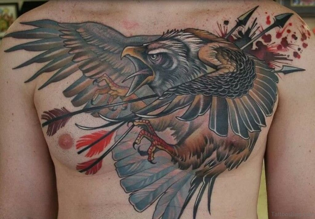 41 realistic eagle tattoos on chest. Black Bedroom Furniture Sets. Home Design Ideas
