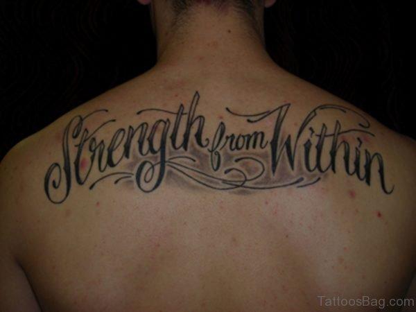 Script Fonts Tattoo Design  On Back