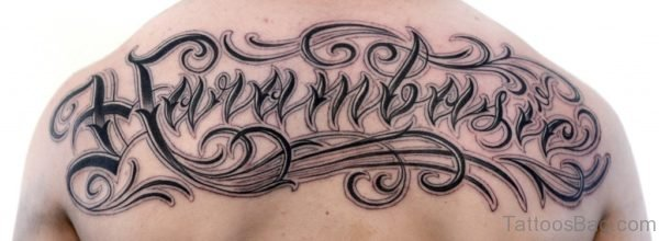 Script Tattoo On Back