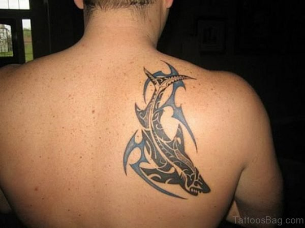 Shark Tattoo On Back