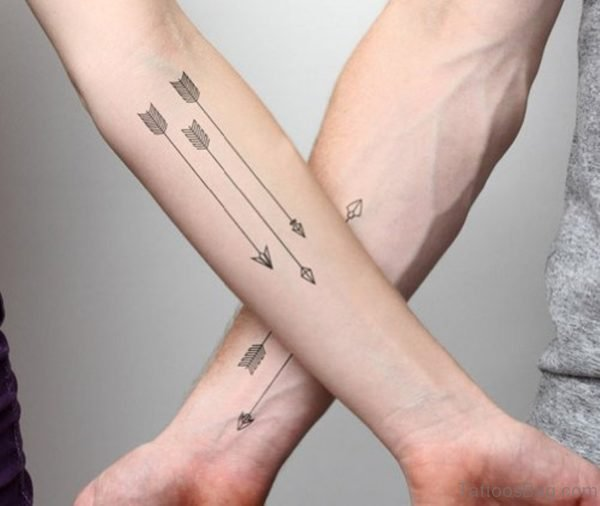 Sharp Arrows Tattoo On Wrist