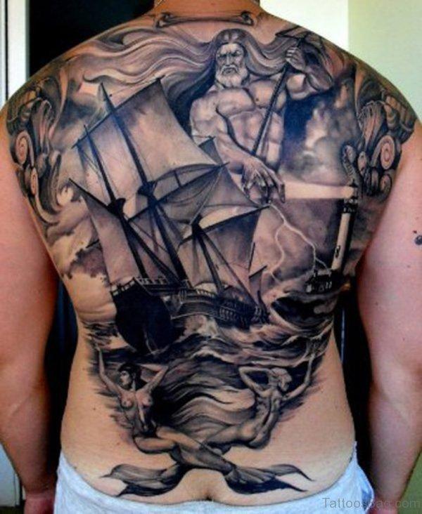 Ship Tattoo Design