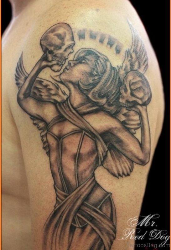Shoulder Tattoo Of Angel