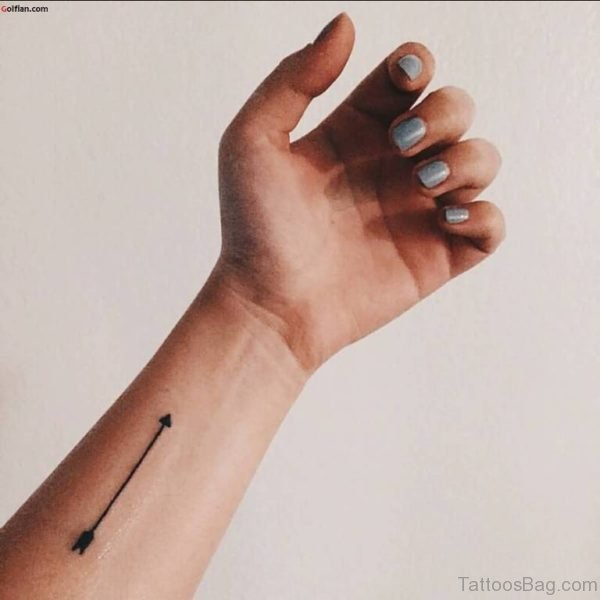 Simple Arrow Tattoo On Wrist
