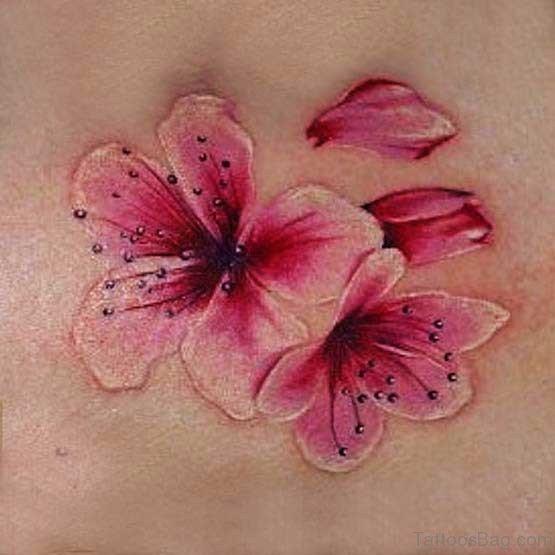 Awesome Cherry Blossom Tattoo Design