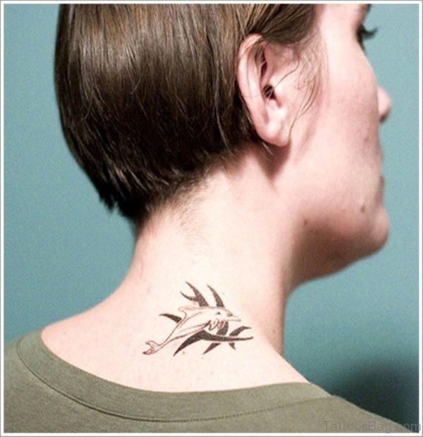 Simple Dolphin Tattoo
