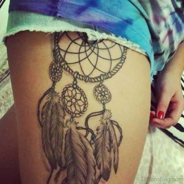 Simple Dreamcatcher Tattoo