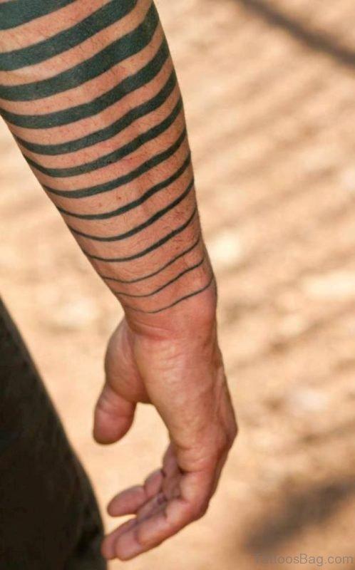 Simple Geometric Tattoo On Wrist