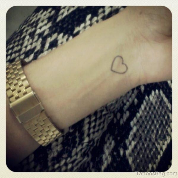 Simple Heart Tattoo On Wrist