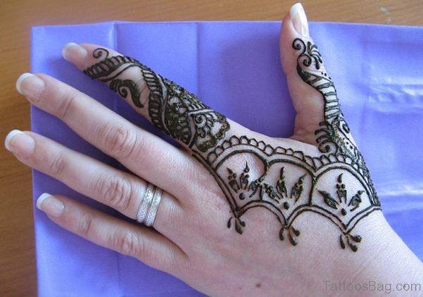 Simple Henna Flower Tattoo