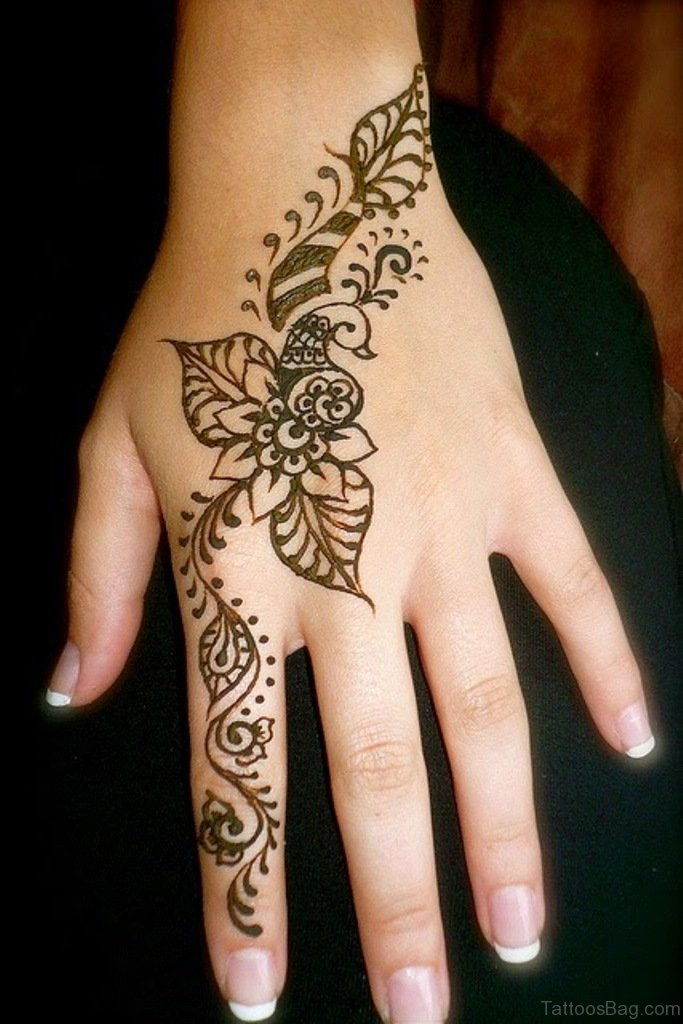 Simple Henna Tattoo Designs For Feet
