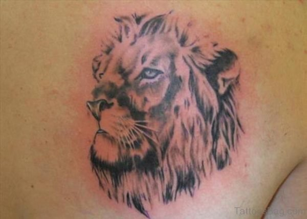 Simple Lion Face Tattoo Design