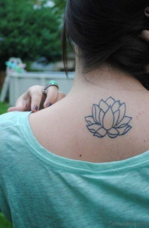 Simple Lotus Tattoo