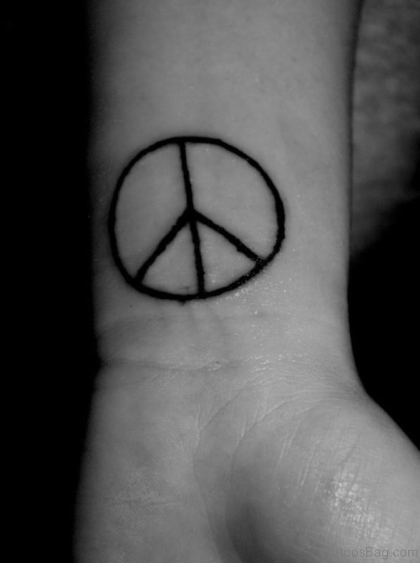 Simple Peace Tattoo