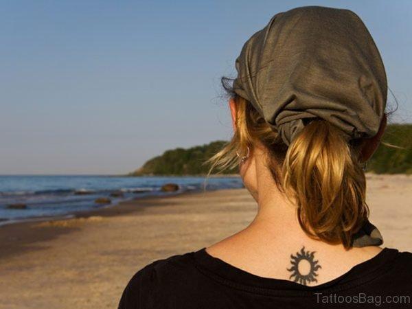 Simple Sun Tattoo Design