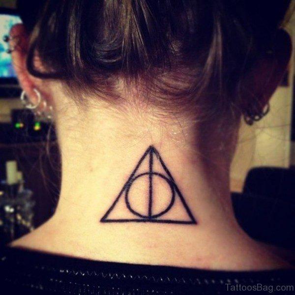 Simple Tattoo On Neck