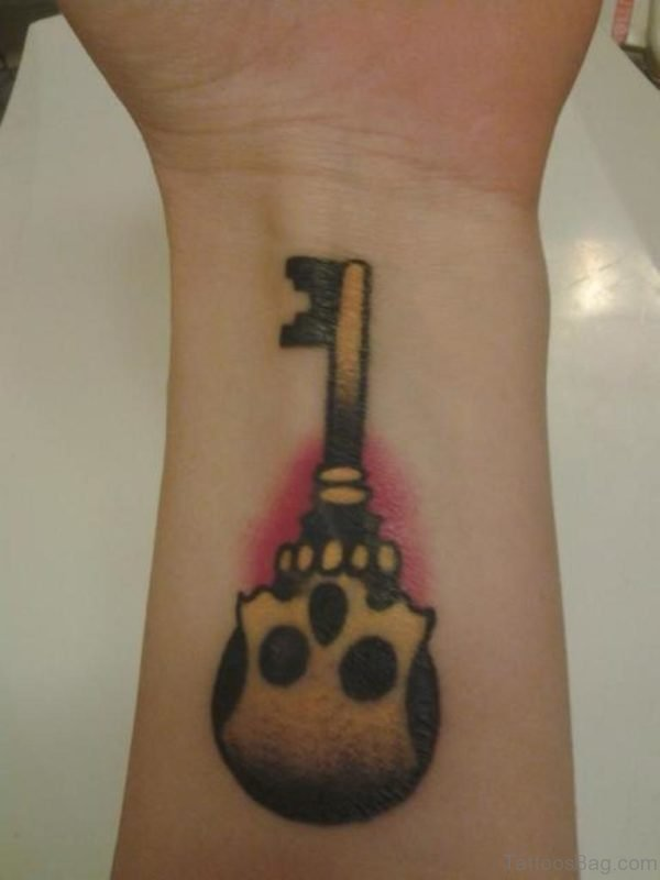 Skeleton Key Tattoo On Wrist