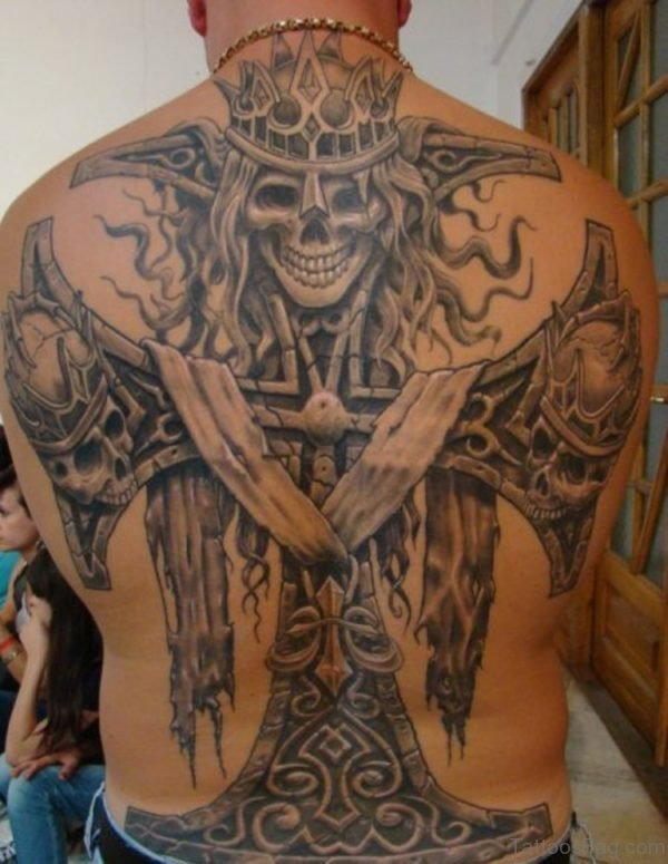 Skull And Cross Tattoo