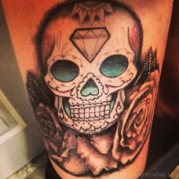 Skull And Diamond Tattoo