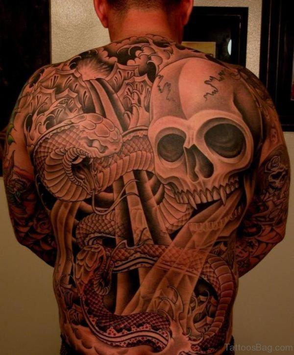 Skull And Dragon Tattoo