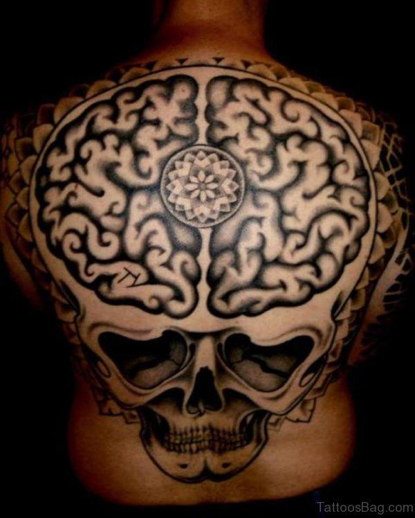 Skull Brain Tattoo