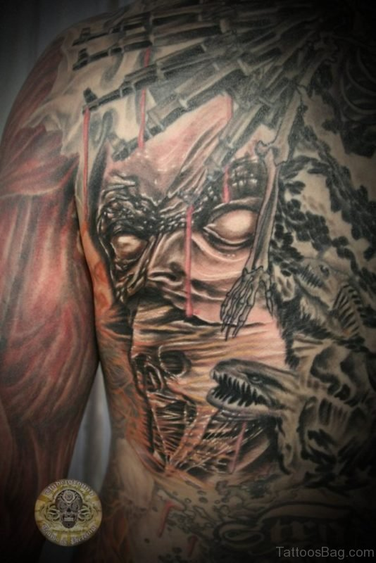Demon Horror Tattoo