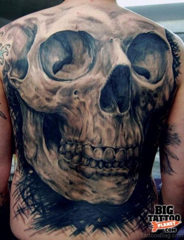 Skull Horror Tattoo Design